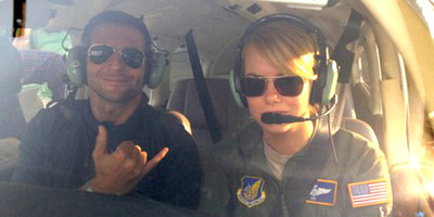 Bradley Cooper and Emma Stone in Aloha